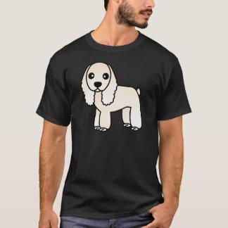 Cute Silver / Buff Cocker Spaniel Cartoon T-Shirt