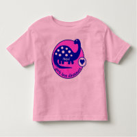 Cute Simple Bright Pink Girls Dinosaur | Dino Toddler T-shirt