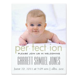 Cute Simple Clean Baby Birth Announcement