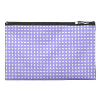 Cute Simple Periwinkle Blue and White Pattern Travel Accessories Bag