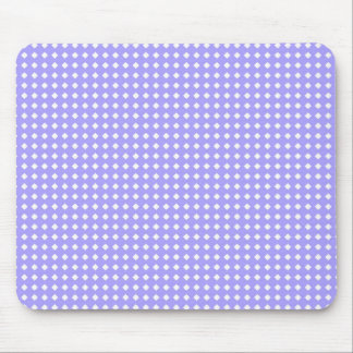 Cute Simple Periwinkle Blue and White Pattern Mouse Pad