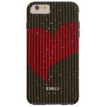 Cute Simple Sparkling Valentines Heart Tough iPhone 6 Plus Case