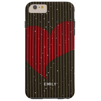 Cute Simple Sparkling Valentines Heart Tough iPhone 6 Plus Case