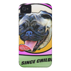 Case-Mate iPhone 4 Barely There Universal Case with Pug Phone Cases design