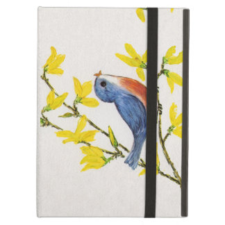 Cute Singing Blue Bird Tree Branch iPad Air Cover
