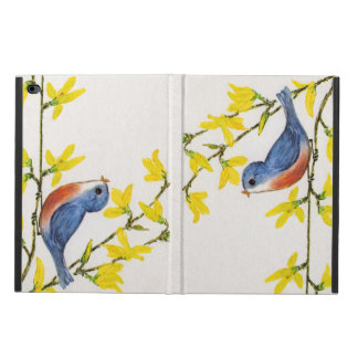 Cute Singing Blue Bird Tree Branch Powis iPad Air 2 Case