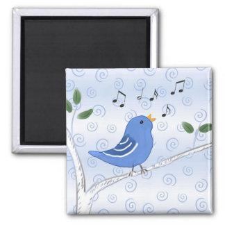 Cute Singing Bluebird Magnet
