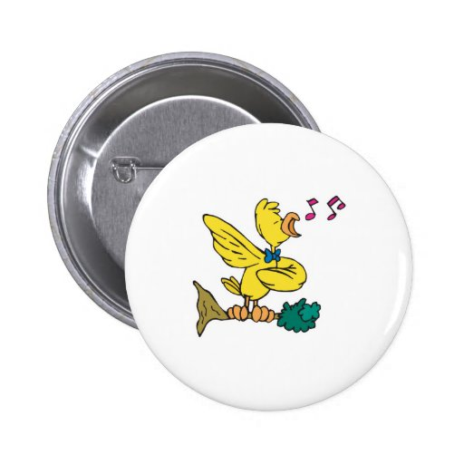 cute singing canary pin