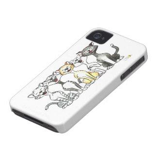 Cute singing cats Case-Mate iPhone 4 case