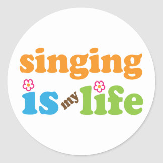 Cute Singing is My Life Classic Round Sticker
