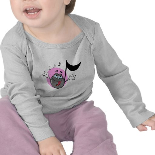 cute singing music musical note cartoon character tee shirts