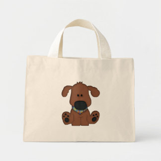 Cute sitting dog tote reusable shopping bag