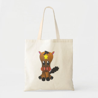 Cute sitting filly tote bag
