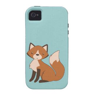 Cute Sitting Fox Case-Mate iPhone 4 Cases