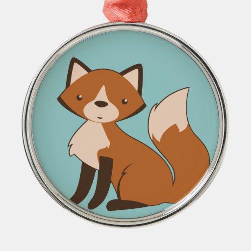 Cute Sitting Fox Christmas Tree Ornaments