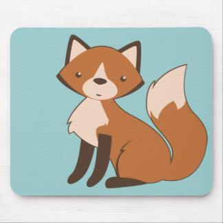 Cute Sitting Fox Mouse Pad