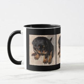 Cute Sitting Rottweiler Puppy Mug