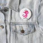 Cute Skateboarding Cartoon Unicorn Button