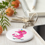 Cute Skateboarding Cartoon Unicorn Keychain