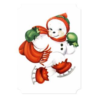 Cute Skating Snowman Card