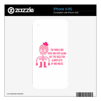 Cute Skeleton Quotes iPhone 4 Decal