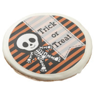 Cute skeleton sugar cookie