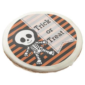 Cute skeleton sugar cookie