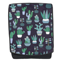 Cute sketchy illustration of cactus pattern backpack