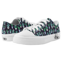 Cute sketchy illustration of cactus pattern Low-Top sneakers