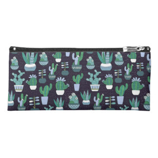 Cute sketchy illustration of cactus pattern pencil case