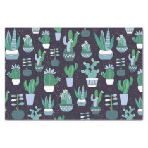 Cute sketchy illustration of cactus pattern tissue paper