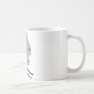 cute ski bunny  snow skiing classic white coffee mug