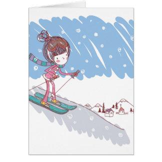Cute Skiier Card