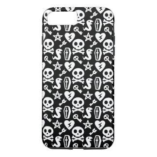 Cute Skull And Crossbone Halloween Pattern iPhone 7 Plus Case