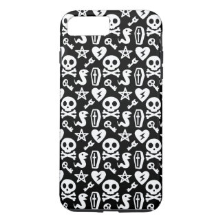Cute Skull And Crossbone Halloween Pattern iPhone 8 Plus/7 Plus Case