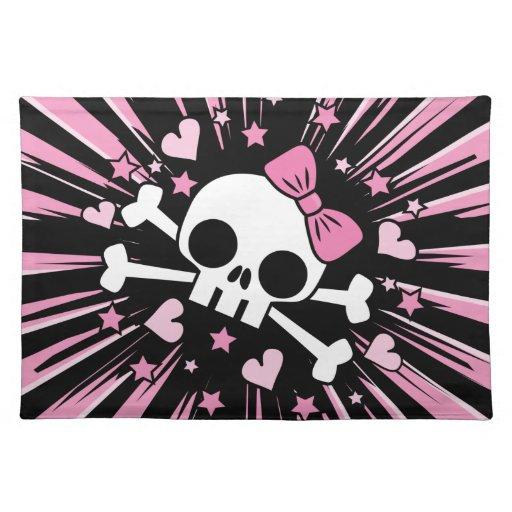 Cute Skull and Crossbones Cloth Place Mat