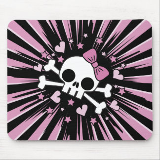 Cute Skull and Crossbones Mouse Pad