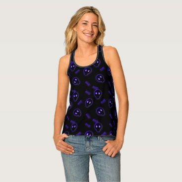Halloween Themed Cute Skull and Crossbones Tank Top