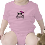 Cute Skull and Crossbones With Pink Bow T-shirts