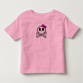 Cute Skull and Crossbones With Pink Bow Toddler T-shirt