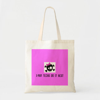 Cute_Skull_by_ashzstock, X-RAY TECHS DO IT BEST Budget Tote Bag