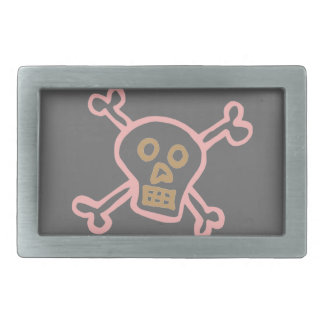 Cute Skull & Crossbones Graffiti Belt Buckles