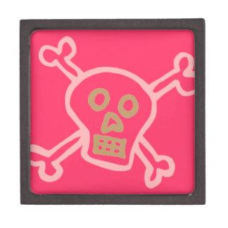 Cute Skull & Crossbones Graffiti Keepsake Box