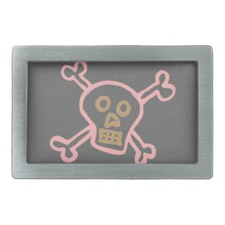 Cute Skull & Crossbones Graffiti Rectangular Belt Buckle