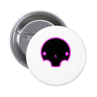 cute skull design button