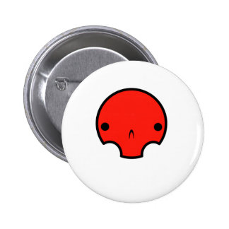 cute skull design pinback button