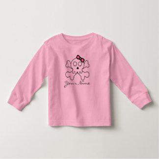 Cute Skull for little Pirate Girls Toddler T-shirt