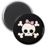 Cute Skull Girl Fridge Magnet
