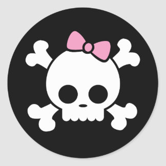 Cute Skull Girl Stickers
