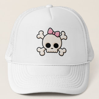 Cute Skull Girl Trucker Hat
